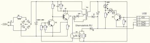 Ремонт зарядника mp3 плеера Direc MF6167. Схема зарядного устройства.