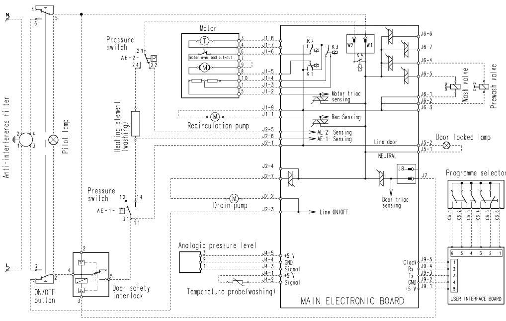 Электрическая схема Electrolux